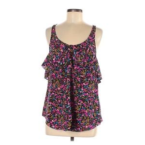 Rebecca Taylor Floral Silk Blouse Sleeveless 6